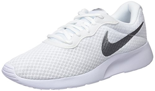 the latest a1245 01acd Nike Womens Tanjun 812655-101 Trainers - WhiteMetallic Silver, ...