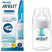 Philips Avent Anti-colic Flasche mit AirFree Ventil 125 ml, transparent