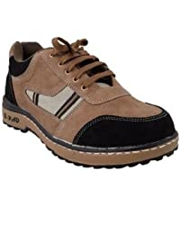 Neosafe Ranger_A5010_Size9 PVC Leather Safety Shoes, Size 9, Brown