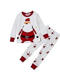 Hawkimin Weihnachten Neugeborenen Baby Boy Girl Tops + Hosen Weihnachten Home Outfits Pyjamas Set