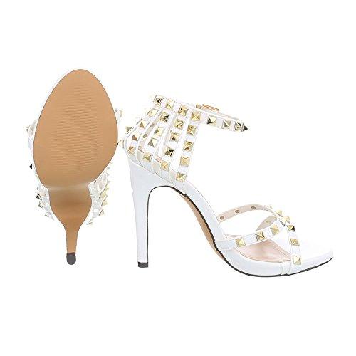 Ital tacco col bianco Sandali LL Scarpe Sandali a Design blocco 69P con Tacco cinturino donna da qSTwBAP