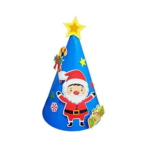 Weihnachten Geschenke Papier Mütze, wuayi Urlaub Sterne drucken Xmas Cap für Santa Claus - Für Baby-jungen Kleider Elmo