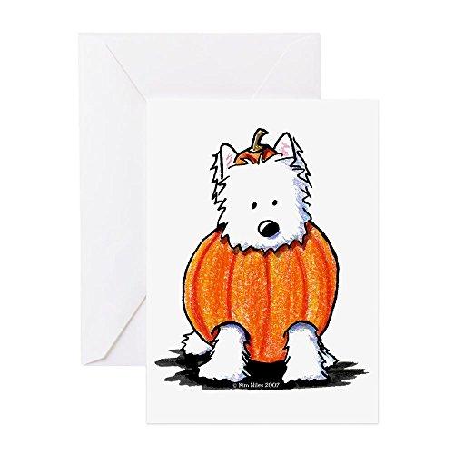 CafePress - Punkin' Westie - Grußkarte, Notizkarte, Geburtstagskarte, blanko Innenseite matt