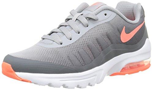 Nike W Air Max Invigor Print, Chaussures de Sport Femme, 16 EU gris - Gris (Wolf Grey / Bright Mango-Drk Gry)