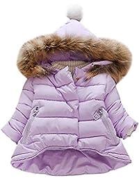Yudesun Niño Niña Abajo Chaqueta Parka Invierno Outwear - Bebé Niños Cuello  de Piel con Capucha Mantener el Calor Acolchado Otoño… 8c2ba1b6cd71