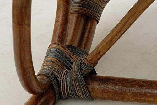 Stillstuhl LUXOR aus Rattan in der Farbe Zebrano - 8