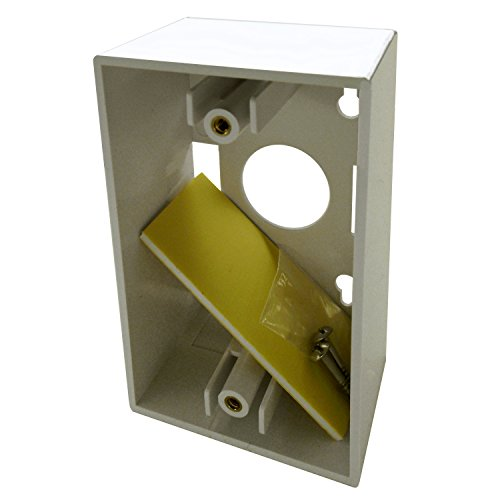 shaxon 635mbw-b, Single Gang Plate Oberfläche Box-Weiß - Single Gang Box
