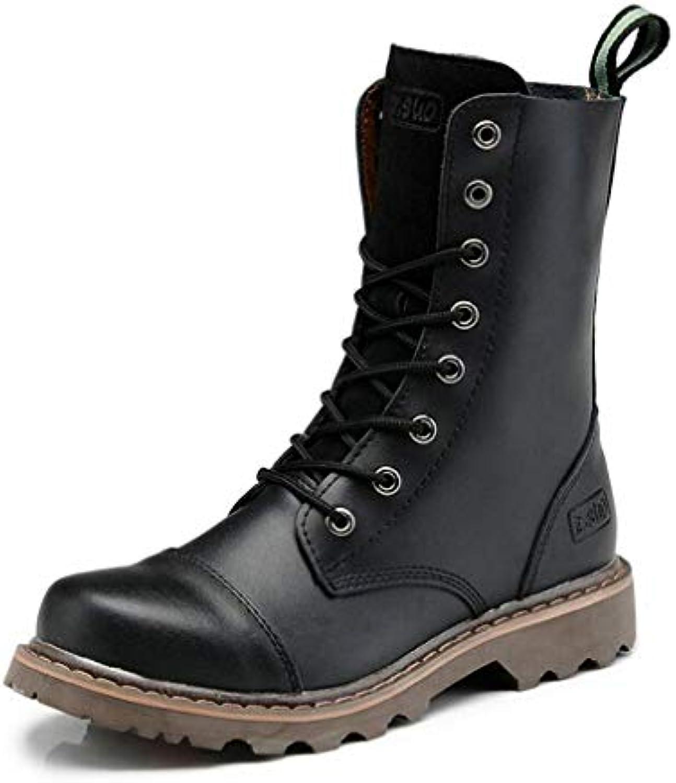 HY Scarpe Unisex, Stivali Martins, Stivali di Pelle Autunno Inverno Inverno Inverno High-Top, Stivali Militari, Stivali da Lavoro... | attività di esportazione in linea  779ef2