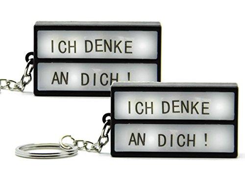 (Bada Bing 2er Set Schlüsselanhänger DIY LED Kino Leuchtschild Lightbox gestaltbare Lichtbox Buchstaben 27)
