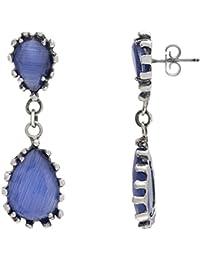 Córdoba Jewels |Pendientes en plata de ley 925 con semipreciosa con diseño Lágrima Montana