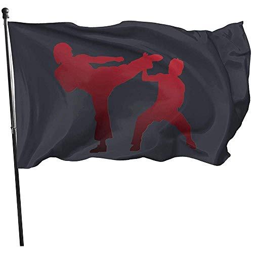 AmyNovelty Home Garden Flag,Karate Flag Polyester Garten Fahnen Für Haus Willkommen Dekor 150X90CM