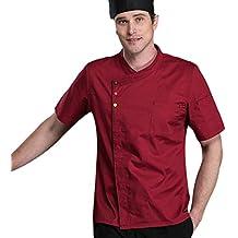 Dooxii Unisex Donna Uomo Estate Manica Corta Giacca da Chef Professionale  Ristorante Occidentale Cucina Mensa Hotel 16e7cd0f83c8