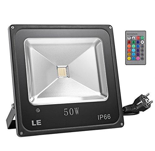 le-projecteur-rgb-a-led-50w-controle-a-distance-par-telecommande-multicolore-16-couleurs-4-modes-ecl