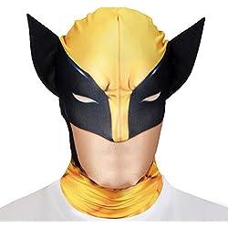 Traje - Máscara Marvel Wolverine Morph Adultas - One Size