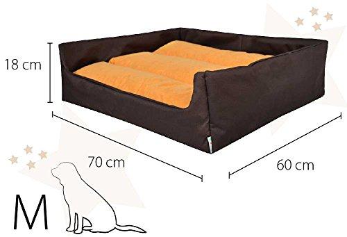 "Hundebett Hundekorb ""Aruba"" 100% Polyester Braun II M – 70cmx60 cm W204 10 - 5"