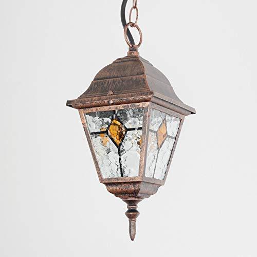 """Außen Pendelleuchte\""""Salzburg\"""" rustikal antik / E27 bis 60W 230V IP44 / Pendel-Lampe für Außen Hof Garten Beleuchtung Terasse"""