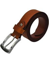 3,5cm Breit Voll Leder Guertel ca. 3,8mm Dick Leder mit Verschiedene Schnallen und Laengen