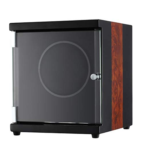 CHIYODA Automatic Single Watch Winder with Quiet Motor - 12 Rotation Modes (Patent Design)