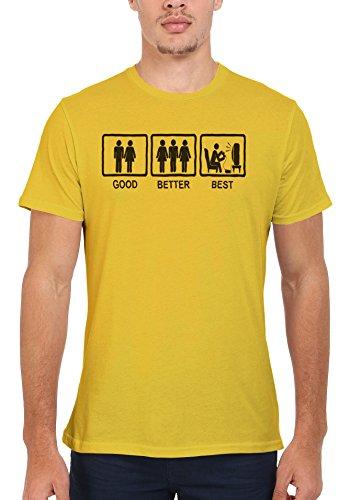 Good Better Best Game Console Fun Men Women Damen Herren Unisex Top T Shirt Licht Gelb