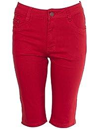 NOROZE Femmes Coton Combat Chino Corsaire Cargaison Shorts Pantalon Courte a2391a56646