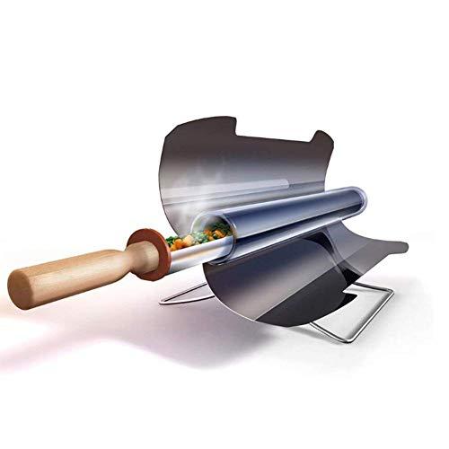 OOBY Portable Edelstahl Solar Grill Fuel Free Solar Grill Herd Rauchfrei Lebensmittelqualität, Faltbar, Lecker Für Outdoor Camp Reisen,47Cm*34Cm*27Cm -