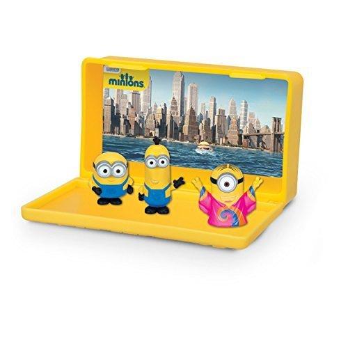 et - 3 Figuren und Box mit Filmszene, NYC - New York Minions (Hippie-comic-figuren)