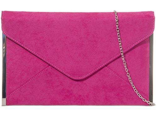 fi9®, Poschette giorno donna multicolore Grey Fuchsia Pink