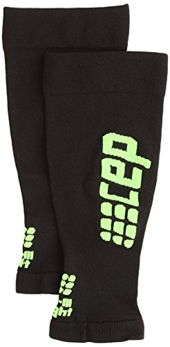 CEP - Ultralight Calf Sleeves für Damen | Dünne Beinstulpen für exakte Wadenkompression | schwarz/grün | Größe III -