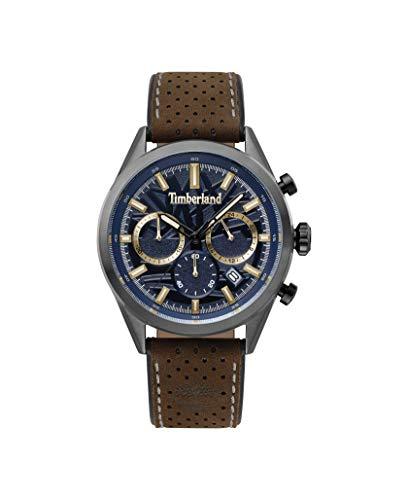 Timberland Reloj Cronógrafo para Hombre de Cuarzo con Correa en Cuero TBL.15476JSU/03