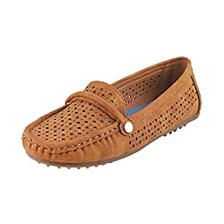 Mochi Women Camel Synthetic Loafers ( Size ) EURO36/UK3
