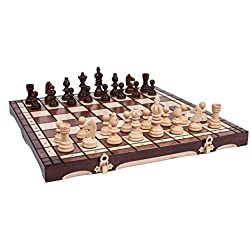GRAN Artesanos de Madera OLÍMPICO juego de ajedrez 35x35 cm