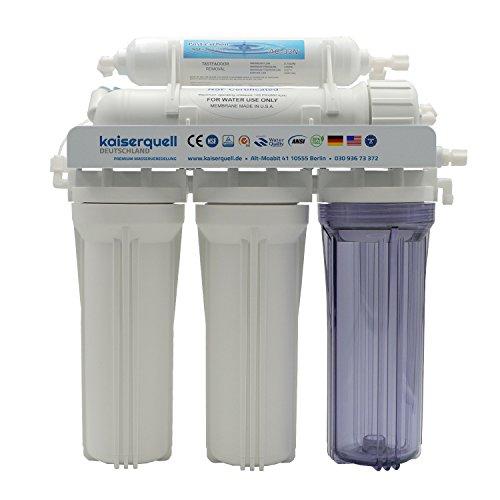kaiserquell Wasserfilteranlage handgefertigt in Deutschland 5 stufig filtert MIKROPLASTIK PESTIZIDE und NITRAT Osmoseanlage Wasserfilter Wasserhahnfilter kalkfrei Mineralien