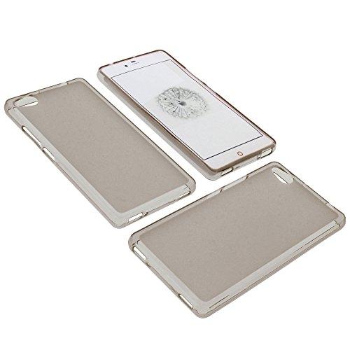 foto-kontor Tasche für ZTE Nubia Z9 Mini Gummi TPU Schutz Hülle Handytasche grau
