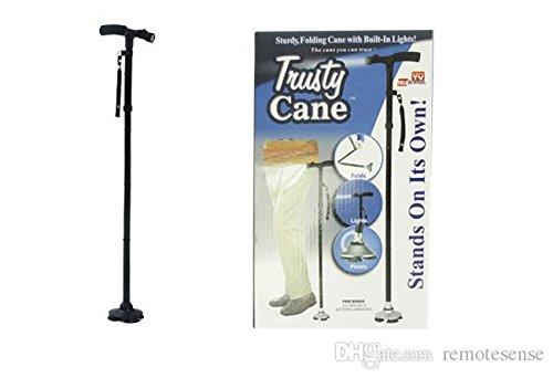 Bastone da passeggio Trusty Cane con luce a LED altezza regolabile pieghevole