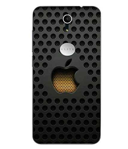 Snazzy Logo Printed Black Soft Back Cover For Swipe Elite Plus