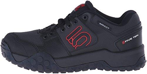 Five Ten MTB-Schuhe Impact Low Carbon/Rot Schwarz