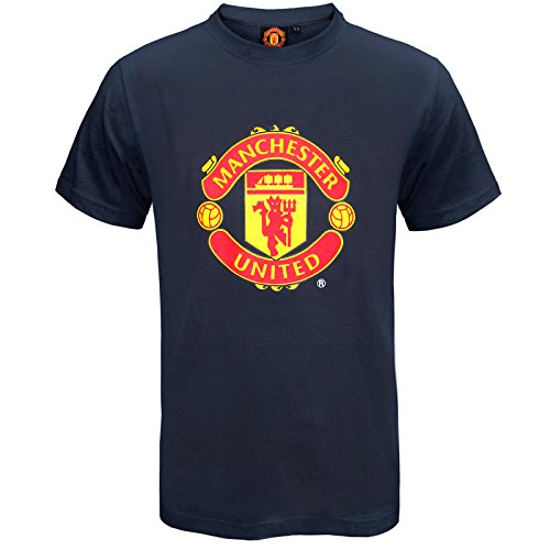 Desolate Manchester United Football Club Official Soccer Gift Mens Crest T-Shirt -