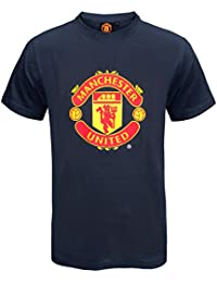 c7132dac88f25 Manchester United FC Official Football Gift Mens Crest T-Shirt