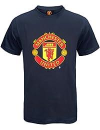 733c3e470fd Manchester United FC Official Football Gift Mens Crest T-Shirt