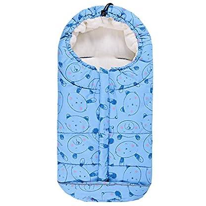 Bebé Saco de Dormir 3 Tog, Mantas Envolventes Invierno para Cochecito 0-6 Meses, Azul