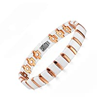 Medical energy bracelet with magnet stone for disposal of body electrical charges and balance for unisex