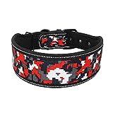 LFEU Hundehalsband Nylon Gepolstertes verstellbares Hundehalsband für mittelgroße Hunde