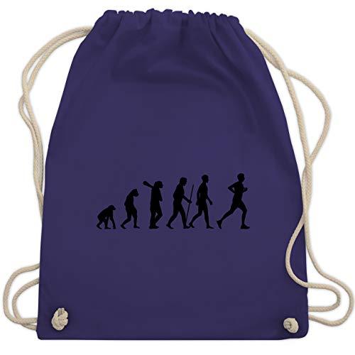 Evolution - Läufer Evolution - Unisize - Lila - WM110 - Turnbeutel & Gym Bag (Kordelzug Marathon)