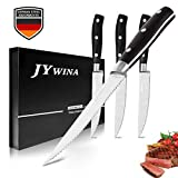 Steak Knives Set, 4 Pieces Steak Knife in German Stainless Steel, Fine Edge Design and Package with Gift Box