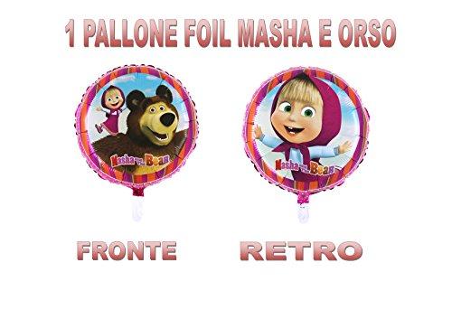PARTY STORE WEB by casa dolce casa Masha y Oso Balón Foil Aire o Helio Addobbo Día y Tabla–CDC (1Balón Foil)