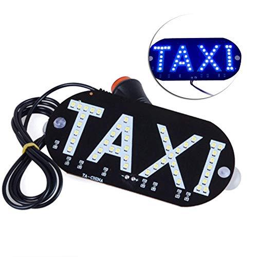 Rungao 1pièce 12 V LED Taxi Panneau de voiture Cab Indicateur lampe pare-brise lampe de lumière avec ruban adhésif