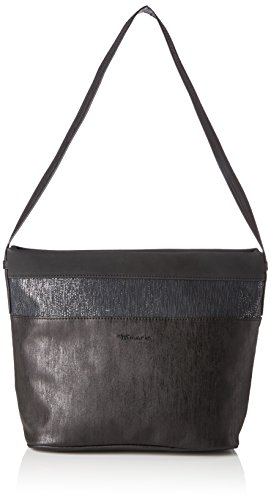 Tamaris - Khema Hobo Bag, Borse a spalla Donna Nero (Black Comb.)