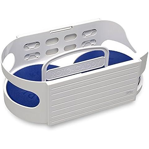 Mesa giratoria Sterline Deluxe Roto Caddy, ideal para el almacenamiento y organización de los artículos del hogar y la cocina. Gabinete organizador de mesa giratoria con especiero en tres niveles: pequeño, mediano y