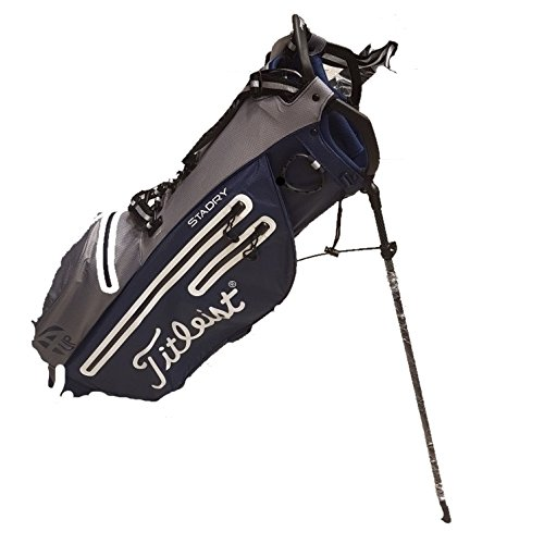Titleist StaDry Light 4up Golf Stand Bag Golf Bag Waterproof (Grey/Navy)