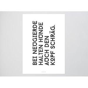 Kunstdruck Poster / Schräg